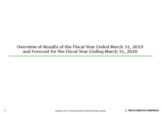 Overview of Results of the Fiscal Year Ended March 31, 2019